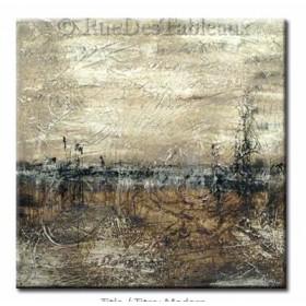 Matin de givre - tableau peint-main peinture à l'huile