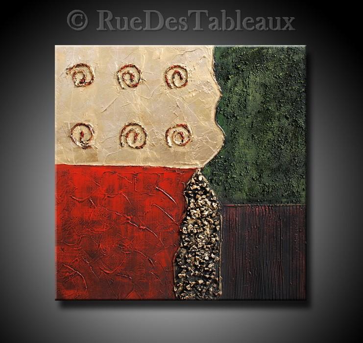 Fossiles imaginaires 2 - tableau peint-main peinture à l'huile