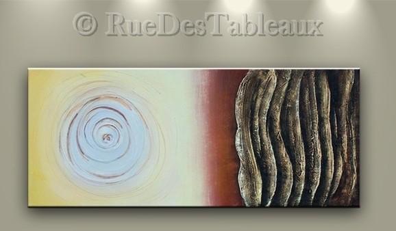 Ondes - tableau peint-main peinture à l'huile