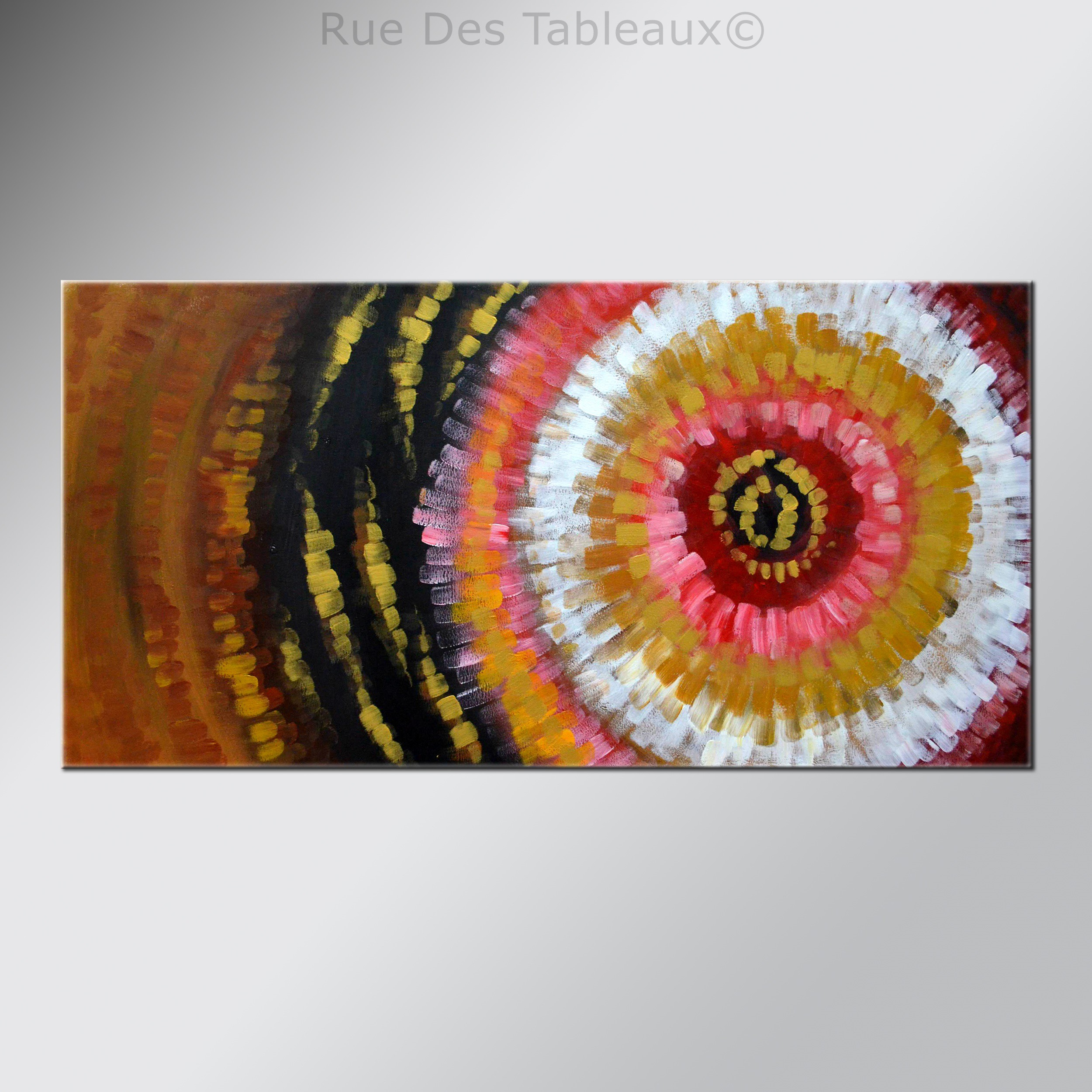 Ors concentriques - tableau peint-main peinture à l'huile