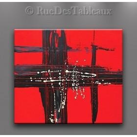 Transfert d'énergie - tableau peint-main peinture à l'huile