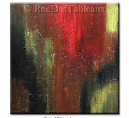 Diablo - tableau peint-main peinture à l'huile