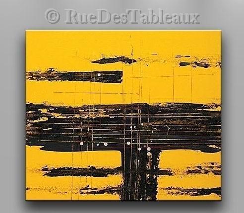 Carrefour africain - tableau peint-main peinture à l'huile