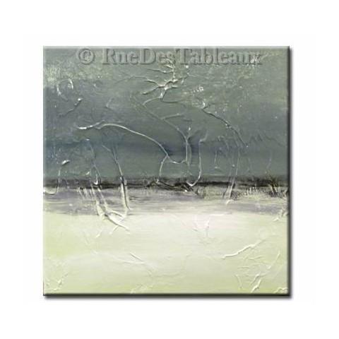 Ciel de glace - tableau peint-main peinture à l'huile