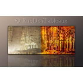 Lumière sacrée - tableau peint-main peinture à l'huile