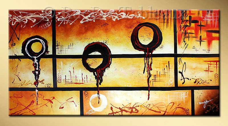 Apesanteur dégoulinante - tableau peint-main peinture à l'huile