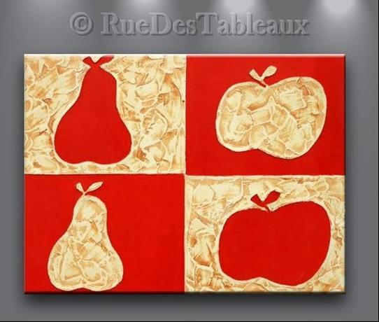 Fruits d'automne - tableau peint-main peinture à l'huile