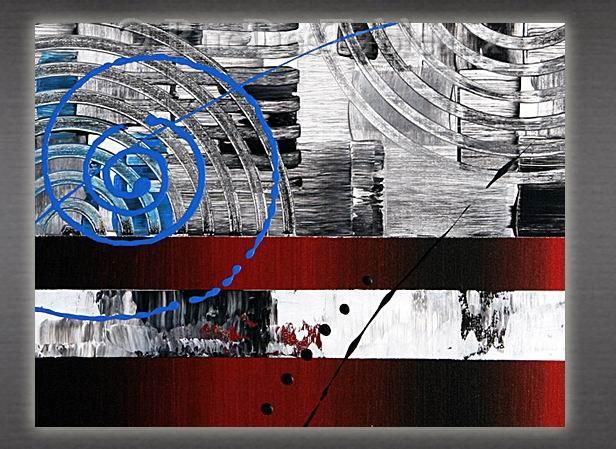 America - tableau peint-main peinture à l'huile