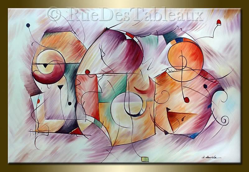 En compagnie des shadocks - tableau peint-main peinture à l'huile
