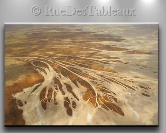 Delta - tableau peint-main peinture à l'huile