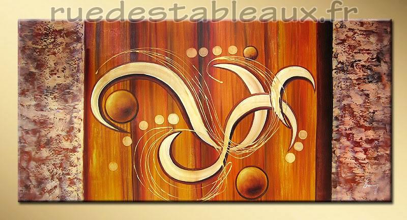 La danse des planètes - tableau peint-main peinture à l'huile