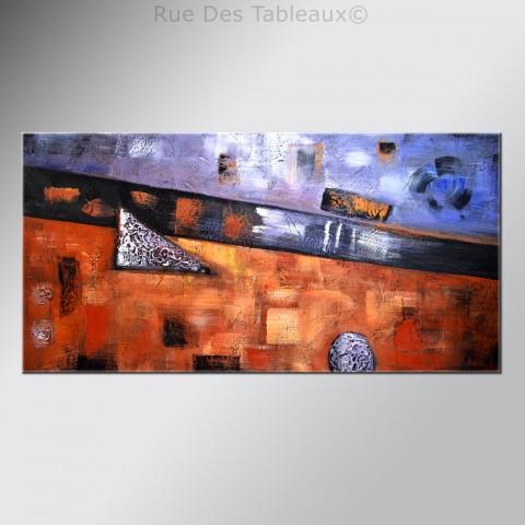 Lucarne sur le paysage - tableau peint-main peinture à l'huile