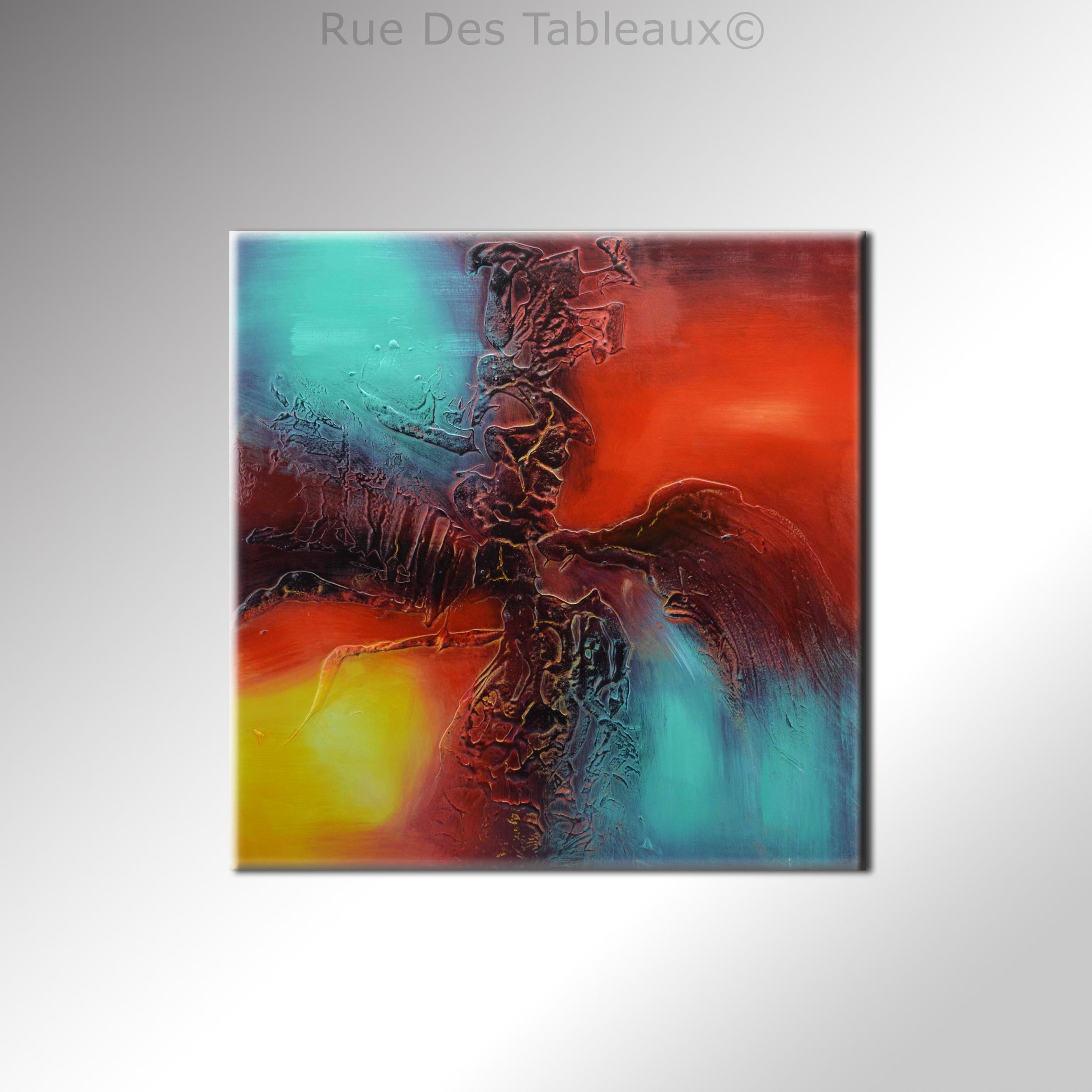 Contrastes - tableau peint-main peinture à l'huile