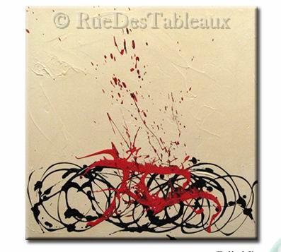 Araignée blessée - tableau peint-main peinture à l'huile