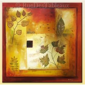 Carré d'automne - tableau peint-main peinture à l'huile