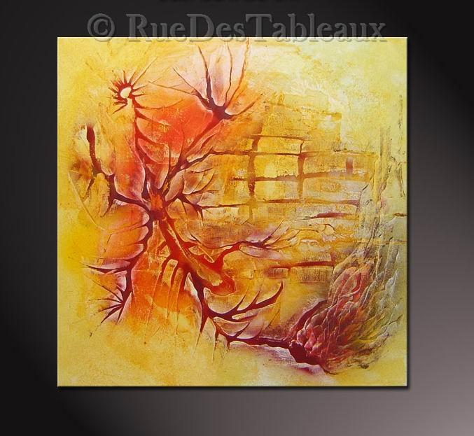 Araignée végétale - tableau peint-main peinture à l'huile