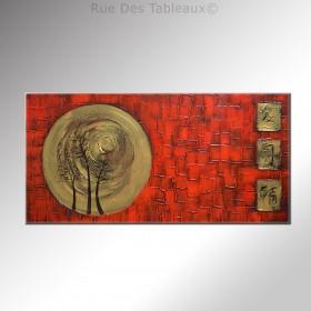 Ecu doré - tableau peint-main peinture à l'huile