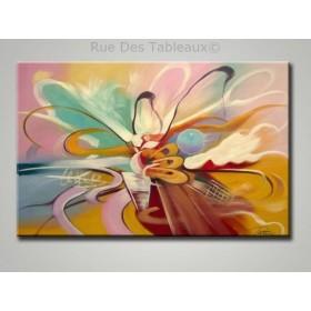 Bouquet musical - tableau peint-main peinture à l'huile