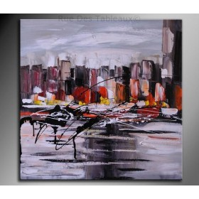 Tumulte - tableau peint-main peinture à l'huile