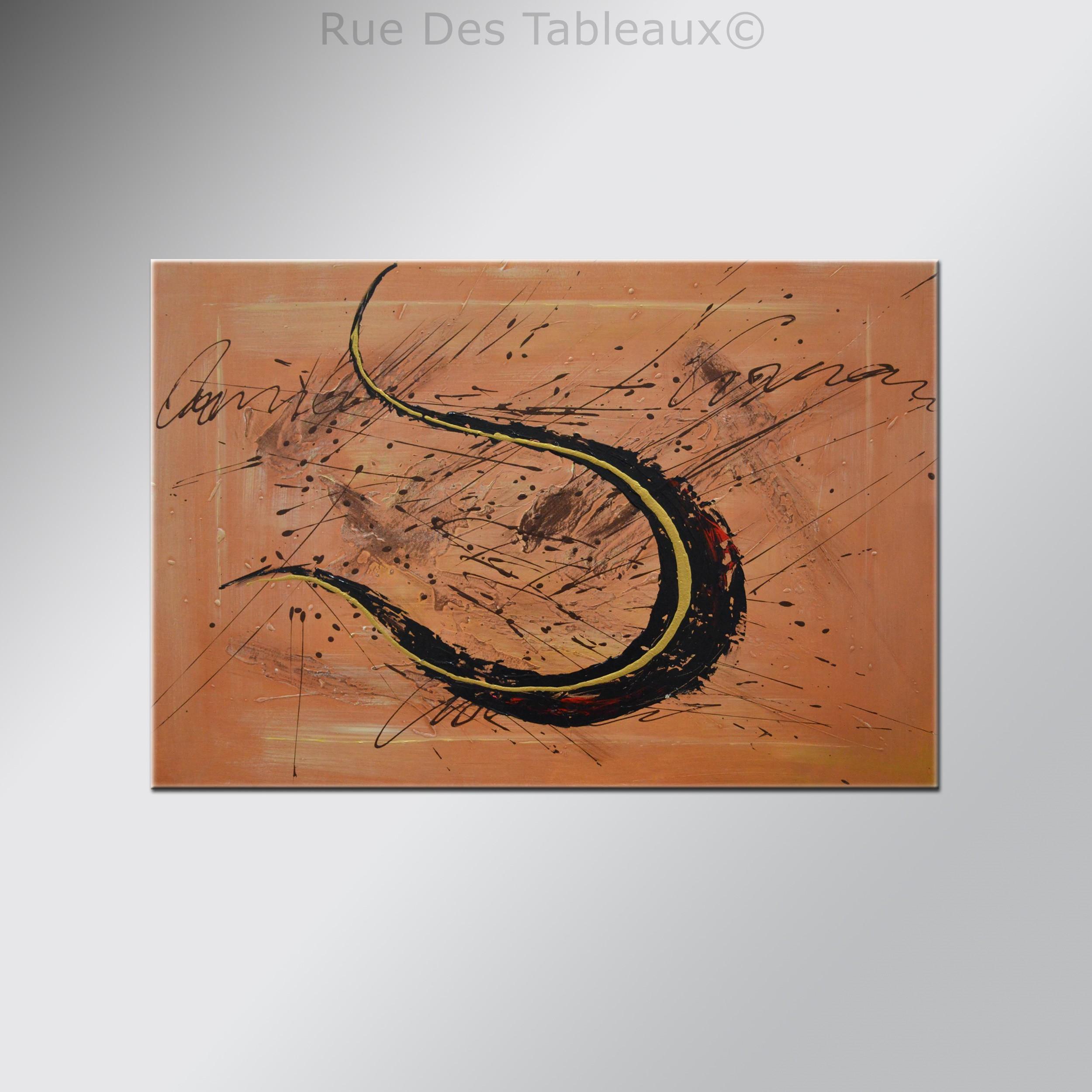 Harpe subjective - tableau peint-main peinture à l'huile