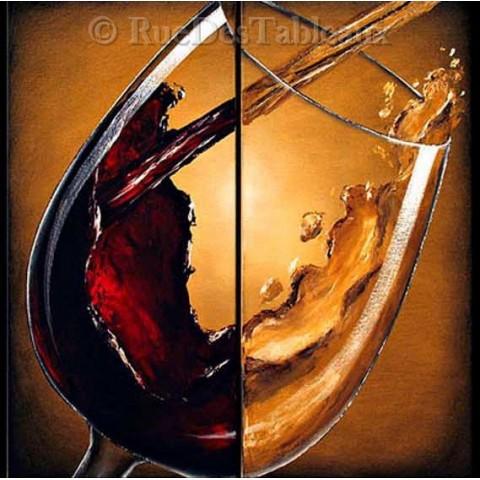Plaisirs de bacchus 2 - tableau peint-main peinture à l'huile
