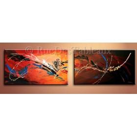 Serpentins dans la lumière - tableau peint-main peinture à l'huile
