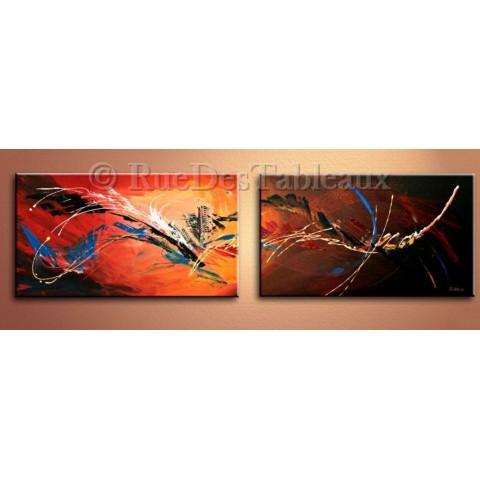 Tableaux abstrait peintures contemporaines abstraites - Peinture effet serpent ...