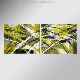 Végétation anarchique - tableau peint-main peinture à l'huile