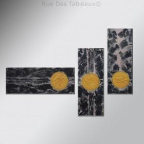 Les trois lunes - tableau peint-main peinture à l'huile