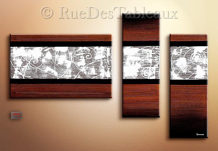 Arabesques balayées - tableau peint-main peinture à l'huile