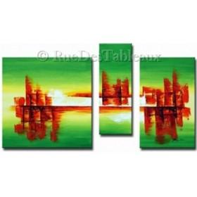 Ville sur l'eau 2 - tableau peint-main peinture à l'huile