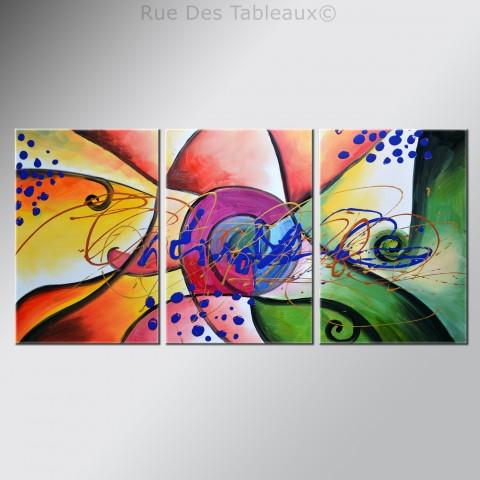 Ailes de papillons - tableau peint-main peinture à l'huile