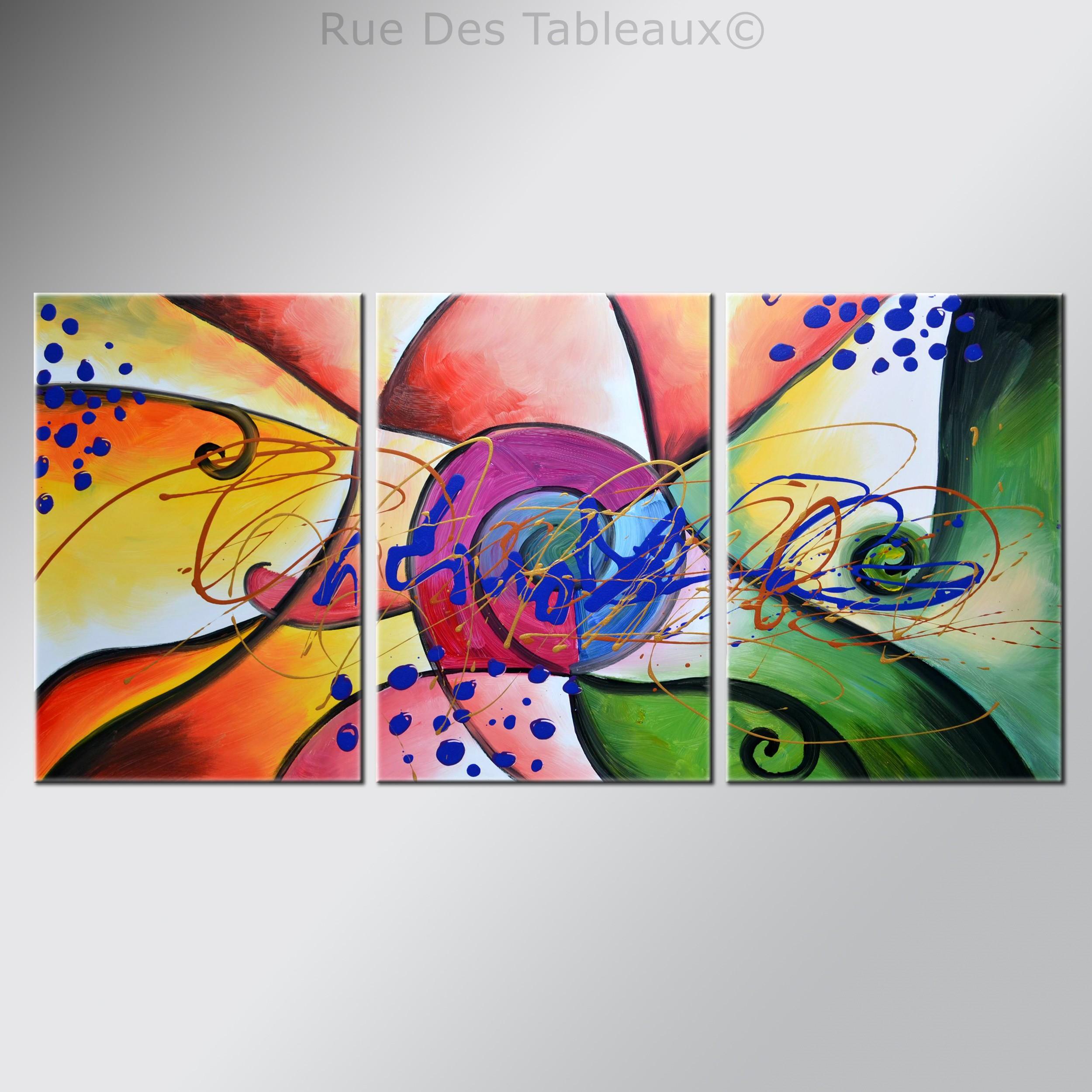 Rue Des Tableaux #9: Ailes De Papillons - Tableau Peint-main Peinture à Lu0027huile