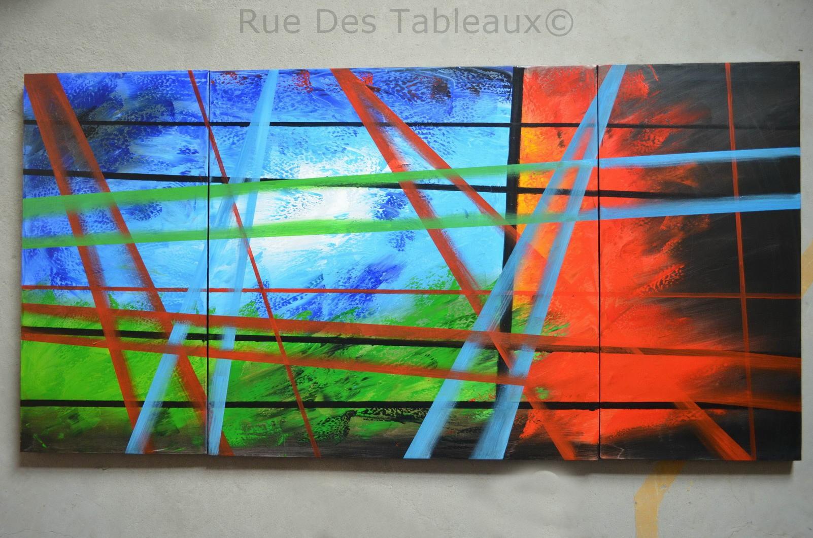 Amazonie 3d - tableau peint-main peinture à l'huile