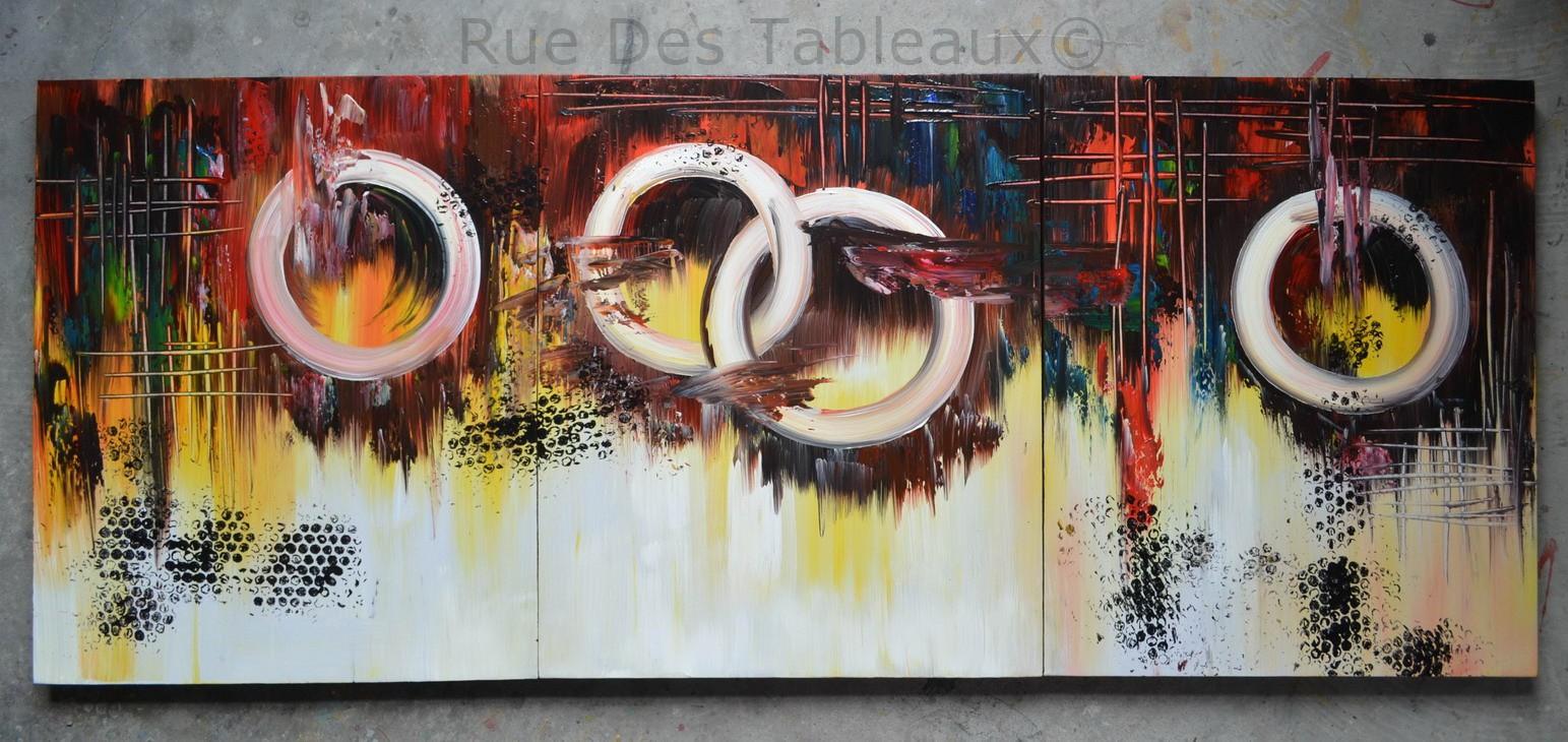 Olympe déchue - tableau peint-main peinture à l'huile