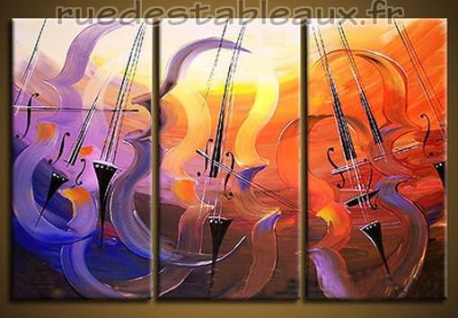 Rythme accordé - tableau peint-main peinture à l'huile