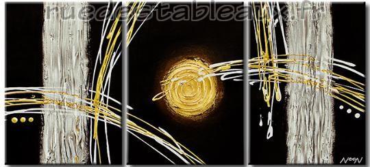 Comète - tableau peint-main peinture à l'huile