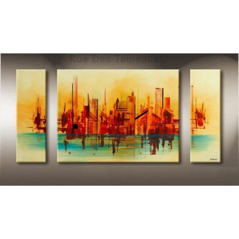 Tableau deco maison effet tableau dans le hall for Decoration maison urbain