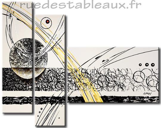 Le mouvement des astres - tableau peint-main peinture à l'huile