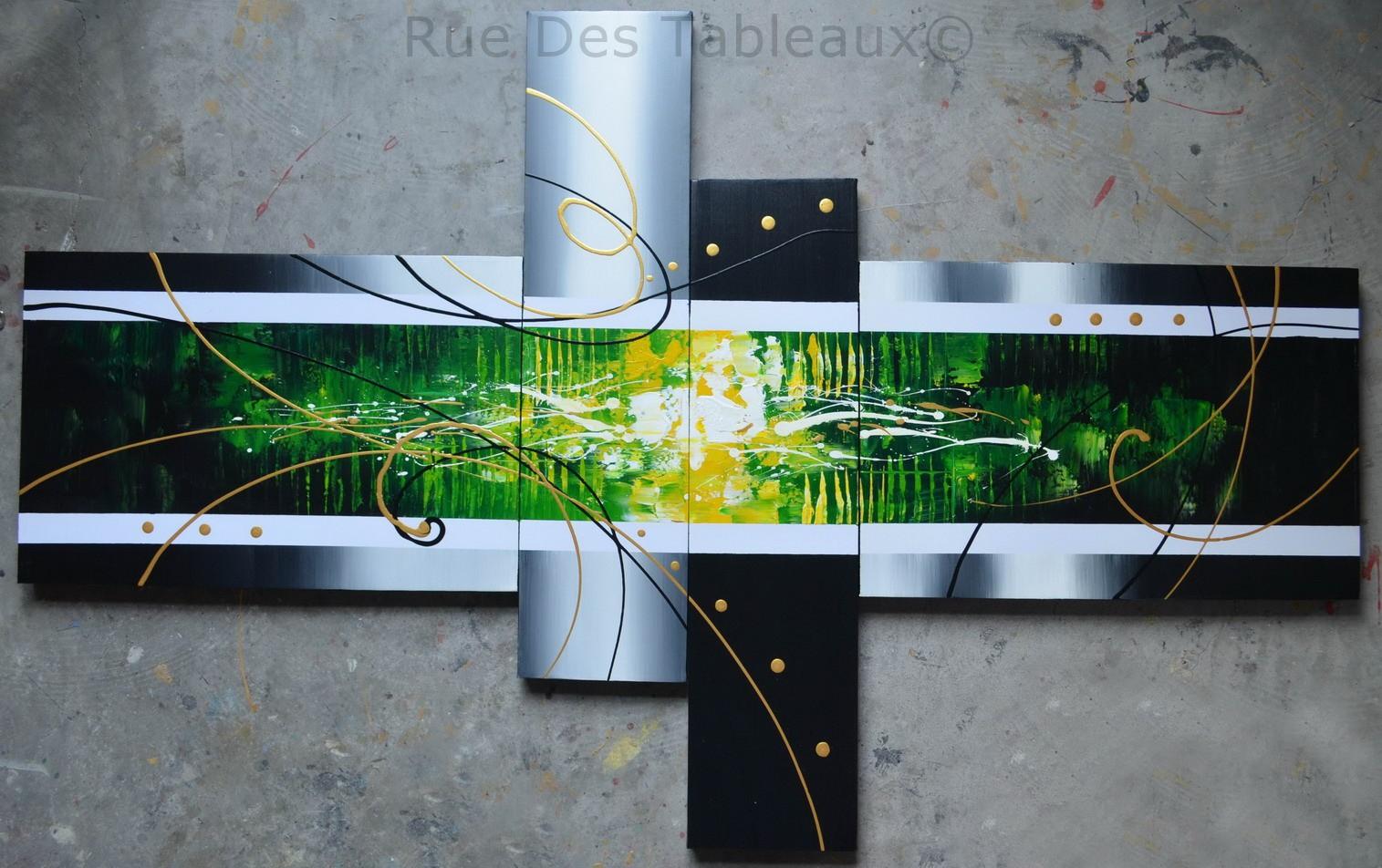 Cylindres envahis - tableau peint-main peinture à l'huile