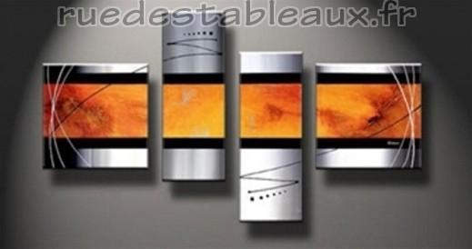 Tableaux abstrait tableau contemporain pas cher peinture - Peinture fusion metal ...
