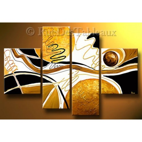 La danse des astres - tableau peint-main peinture à l'huile