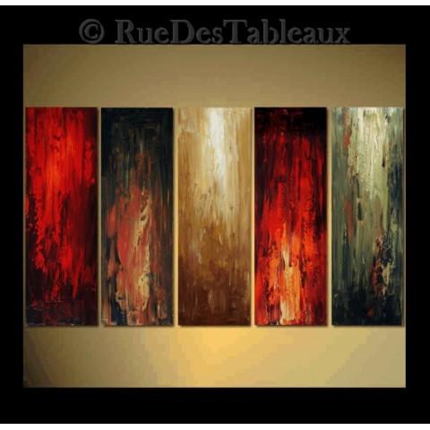 Flambées - tableau peint-main peinture à l'huile