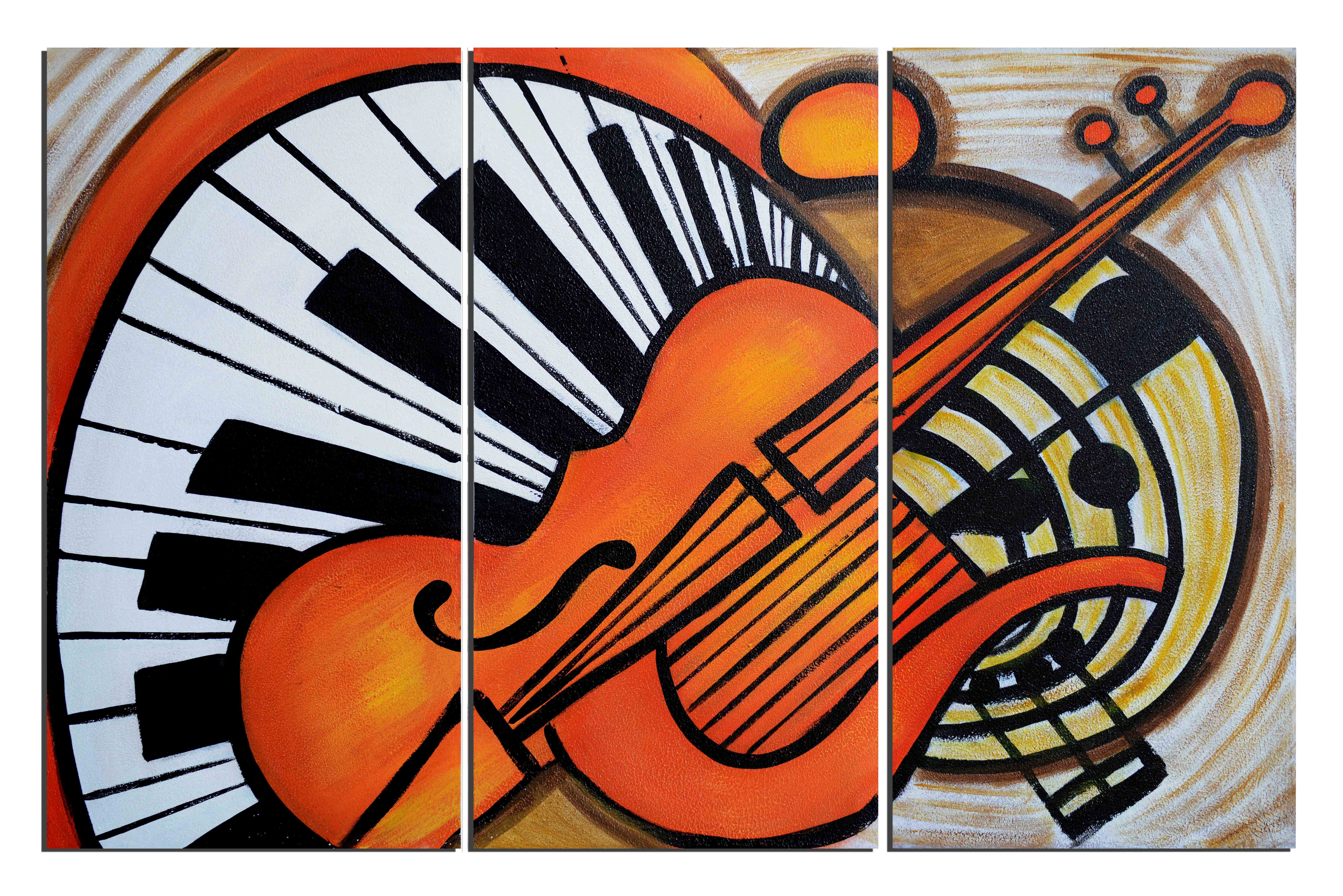 Tourbillon de musique - tableau peint-main peinture à l'huile