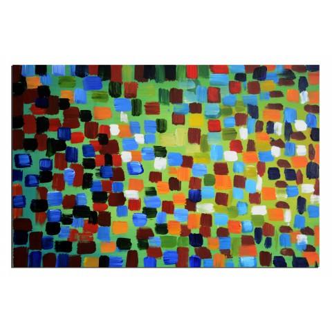 Dans la foule - tableau peint-main peinture à l'huile