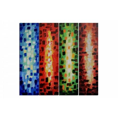 Apparition divine - tableau peint-main peinture à l'huile
