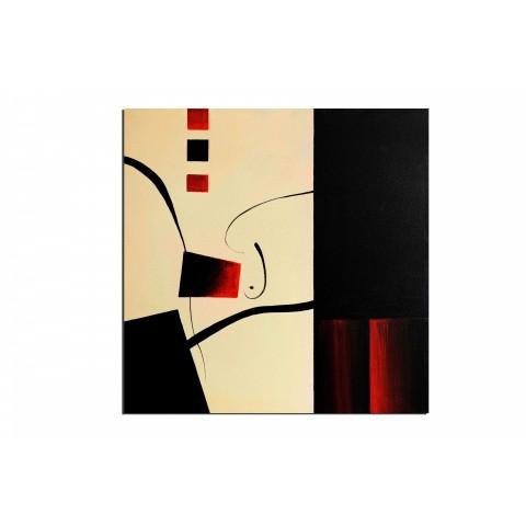 L'Équilibre - tableau peint-main peinture à l'huile
