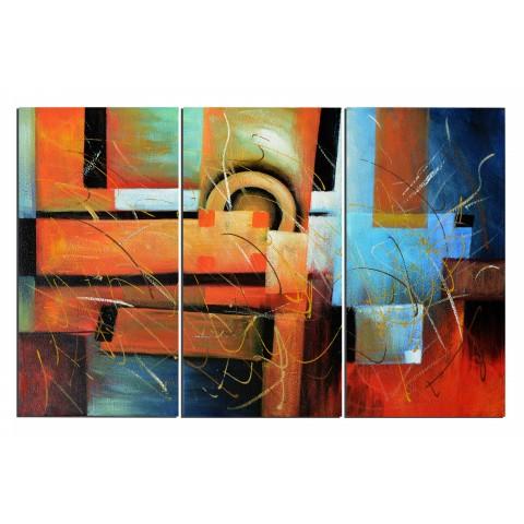 Forme et couleur - tableau peint-main peinture à l'huile