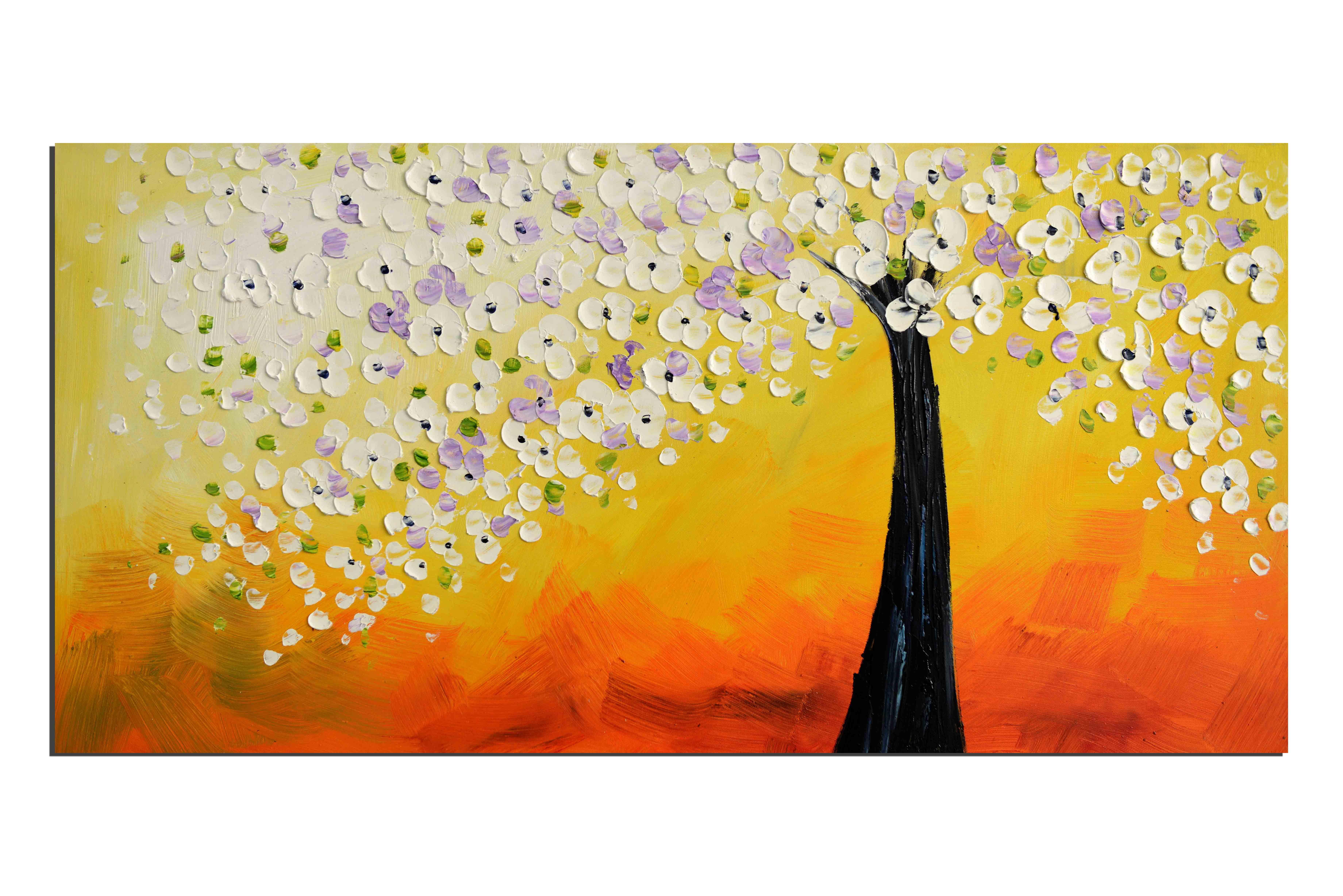 Vie terrestre - tableau peint-main peinture à l'huile