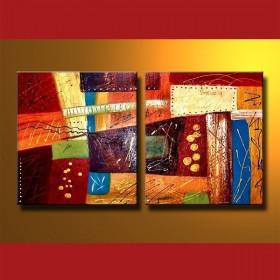 Bijoux sur toile - tableau peint-main peinture à l'huile